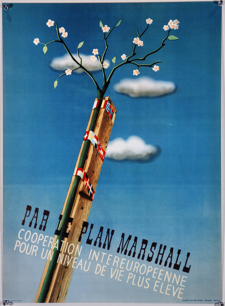 Par Le Plan Marshall (1050) - Original and Authentic Vintage Poster
