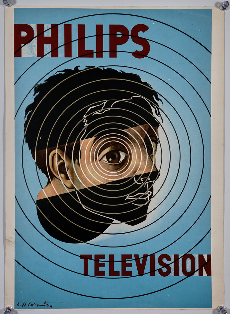 Philips Television by A.M. Cassandre (1951) - Original and Authentic Vintage Poster