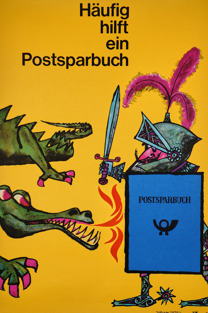 Postsparbuch (1963) - Original and Authentic Vintage Poster