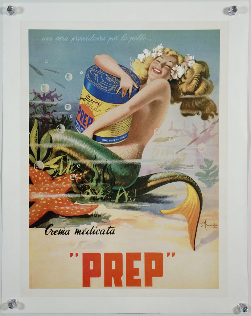 PREP Mermaid (1950) - Original and Authentic Vintage Poster