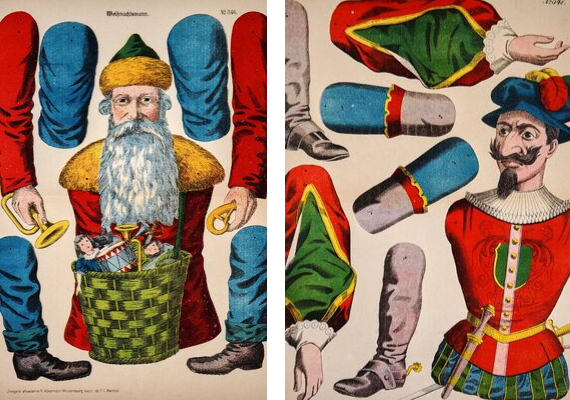 Wissembourg- Santa Claus and  Don Quixote (set of 2) (1900s) - Authentic Vintage Posters