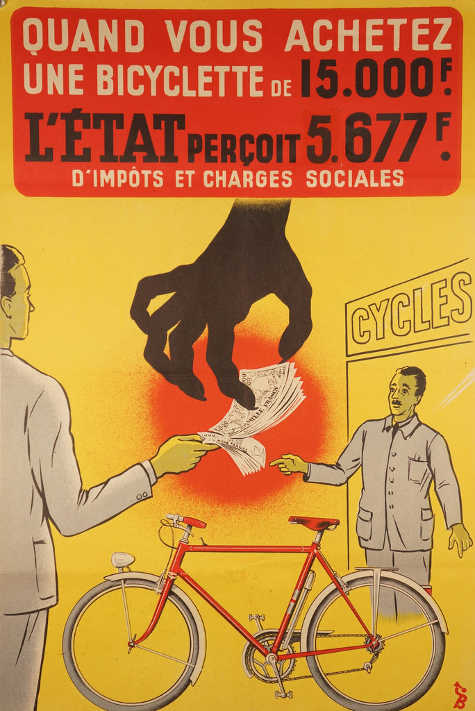 Quand Vous Achetez Une Bicyclette (1950s) - Original and Authentic Vintage Poster