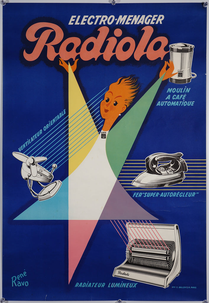 Radiola (1950s) - Original and Authentic Vintage Poster