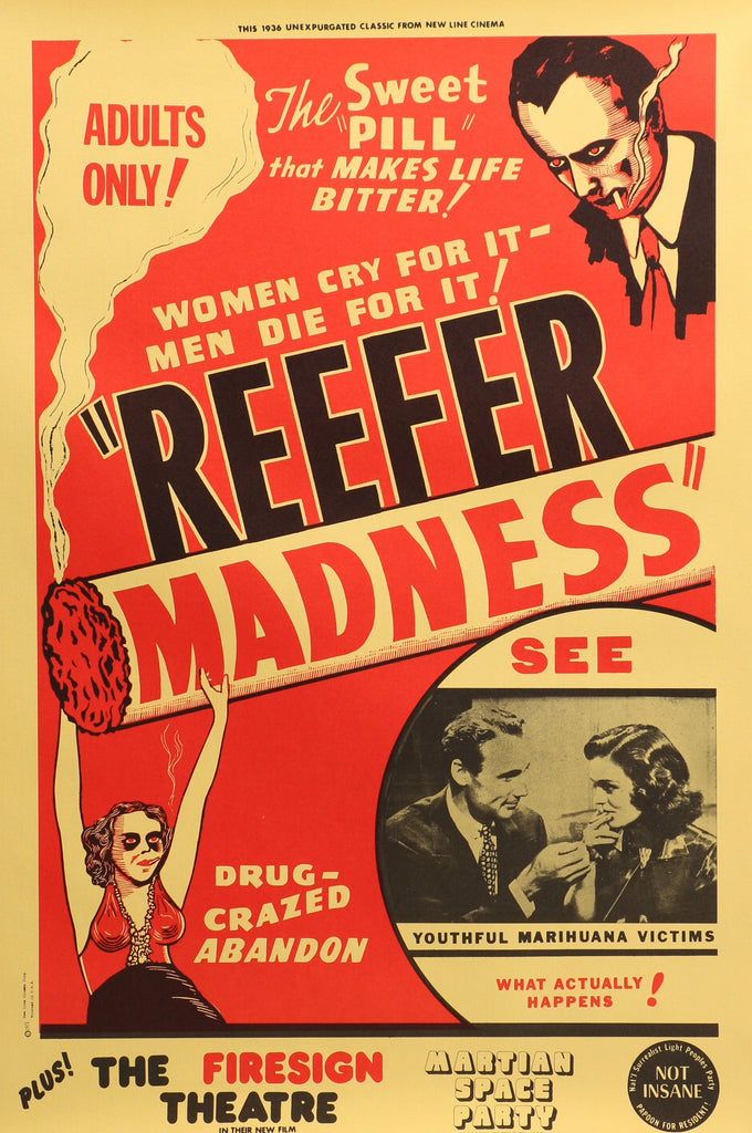 Reefer Madness (1972) - Original and Authentic Vintage Poster