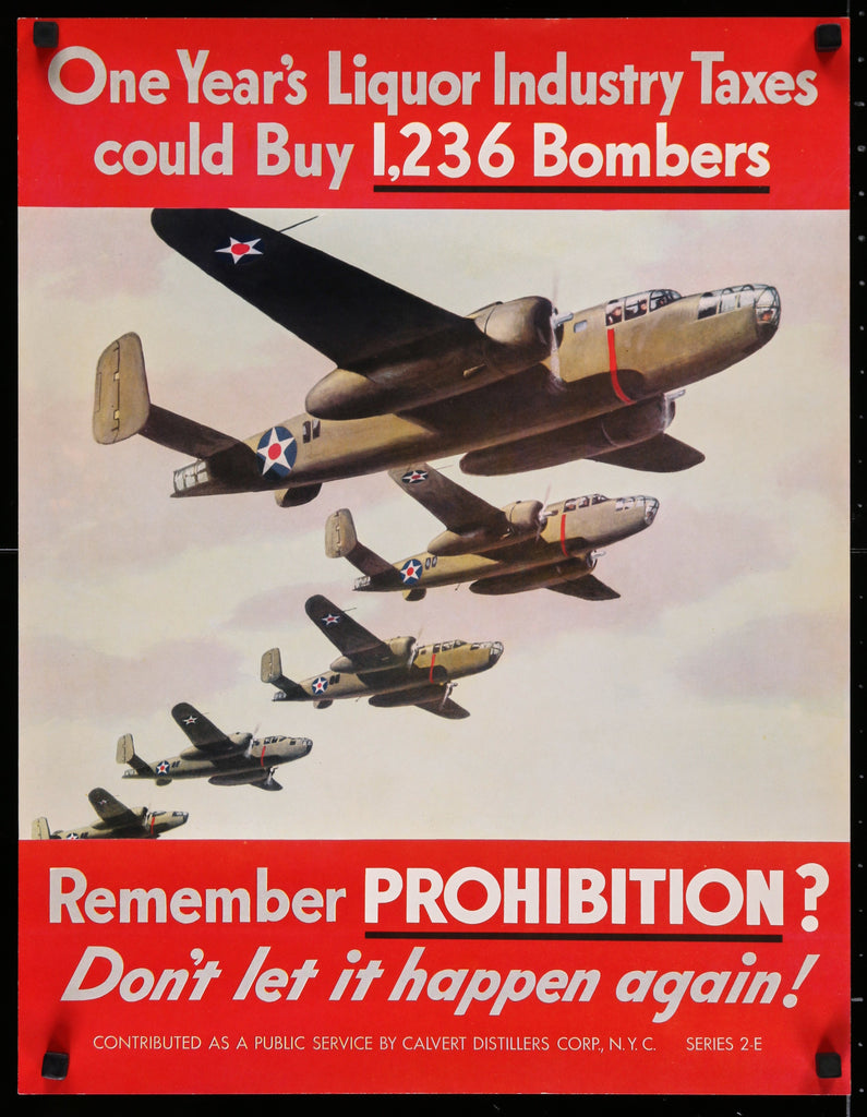 Remember Prohibition (1940s) - Original and Authentic Vintage Poster