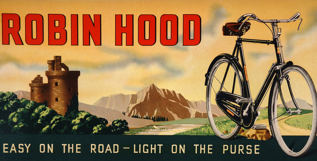 Raleigh Bicycles- Robin Hood (1940s) - Original and Authentic Vintage Poster