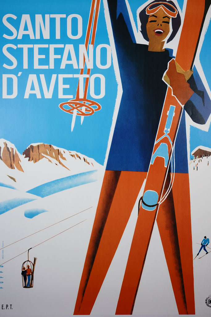 Santo Stefano d'Aveto (1950s) - Original and Authentic Vintage Poster