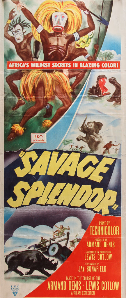 Savage Splendor (1949) - Original and Authentic Vintage Poster