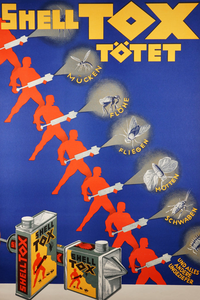 Shell Tox Totet (1928) - Original and Authentic Vintage Poster