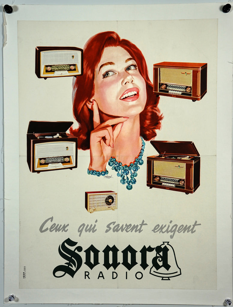 Sonora Radio (1960s) - Original and Authentic Vintage Poster
