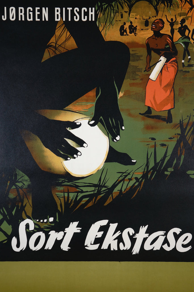 Sort Ekstase (1955) - Original and Authentic Vintage Poster