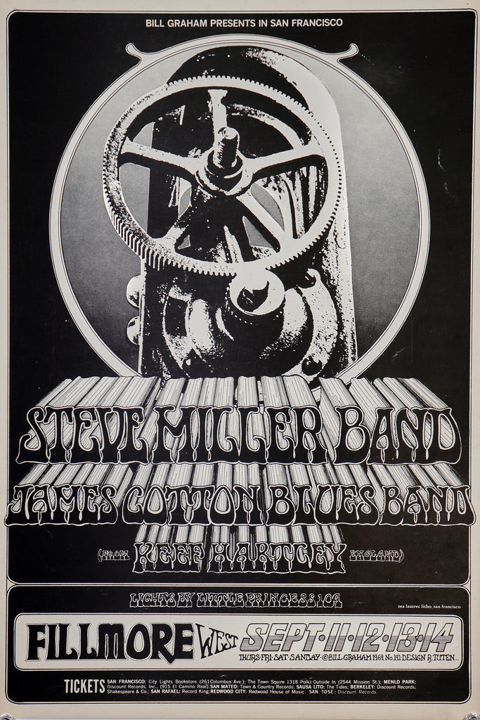 Steve Miller Band (1969) - Original and Authentic Vintage Poster