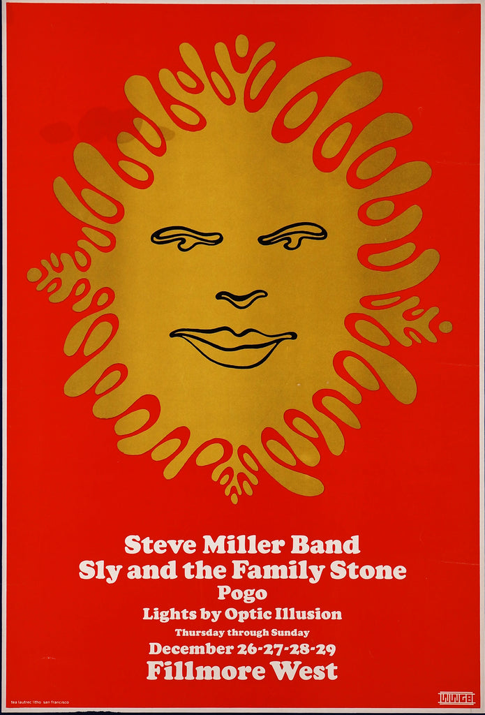 Steve Miller Band, Sly & The Family Stone (1968) - Original and Authentic Vintage Poster