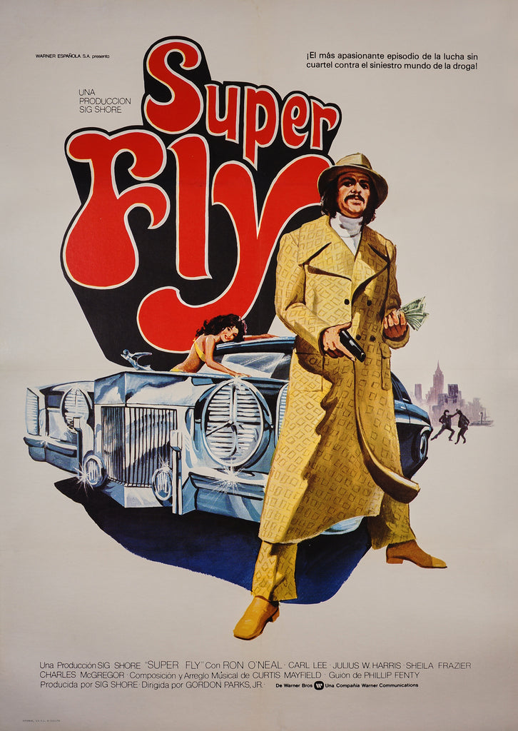 Super Fly- Spanish Release (1980) - Original and Authentic Vintage Poster