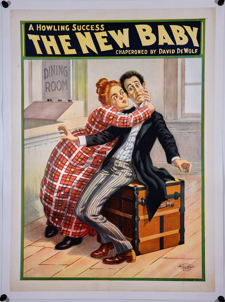 The New Baby (1902) - Original and Authentic Vintage Poster