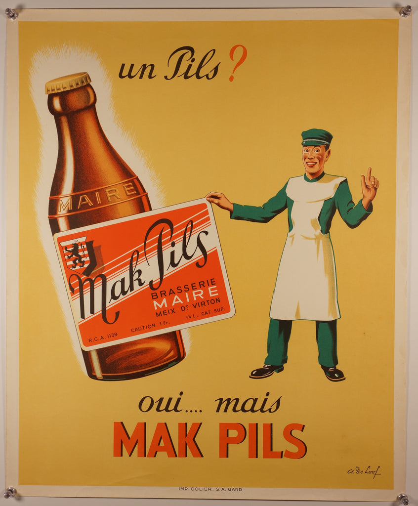 Un Pils? (1940s) - Original and Authentic Vintage Poster