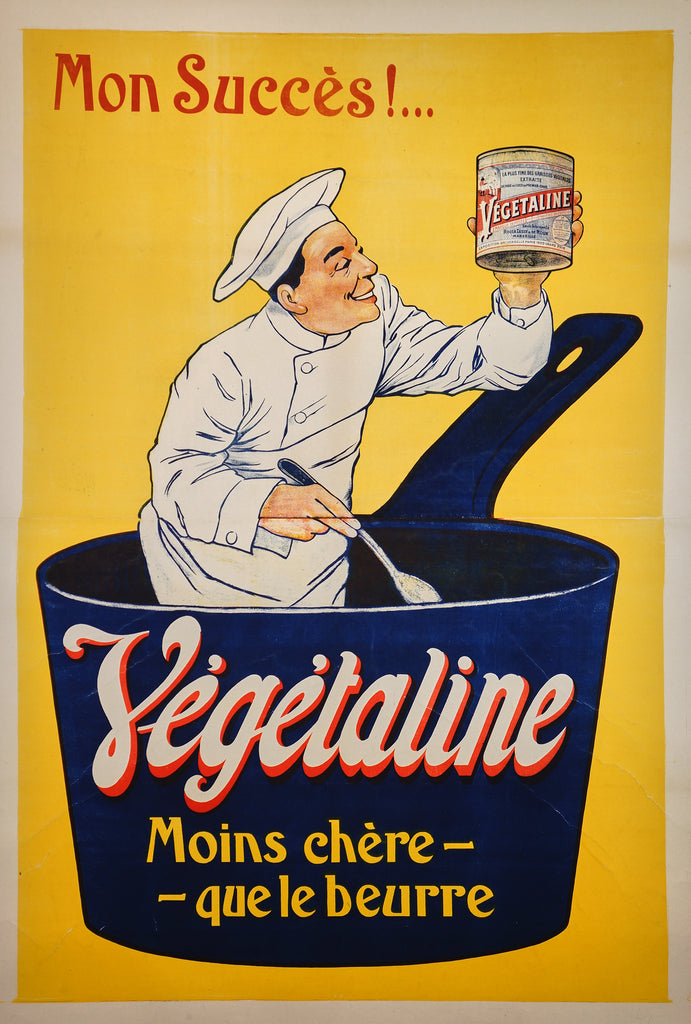Vegetaline - Chef in Pot (c1905) - Original and Authentic Vintage Poster