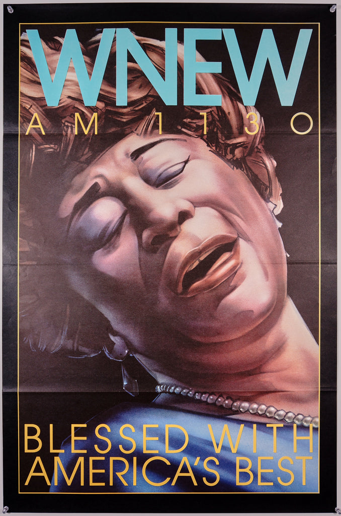 WNEW- Ella Fitzgerald (1985) - Original and Authentic Vintage Poster