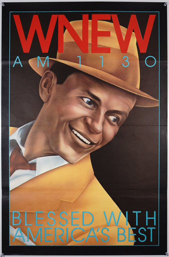 WNEW- Frank Sinatra (1985) - Original and Authentic Vintage Poster