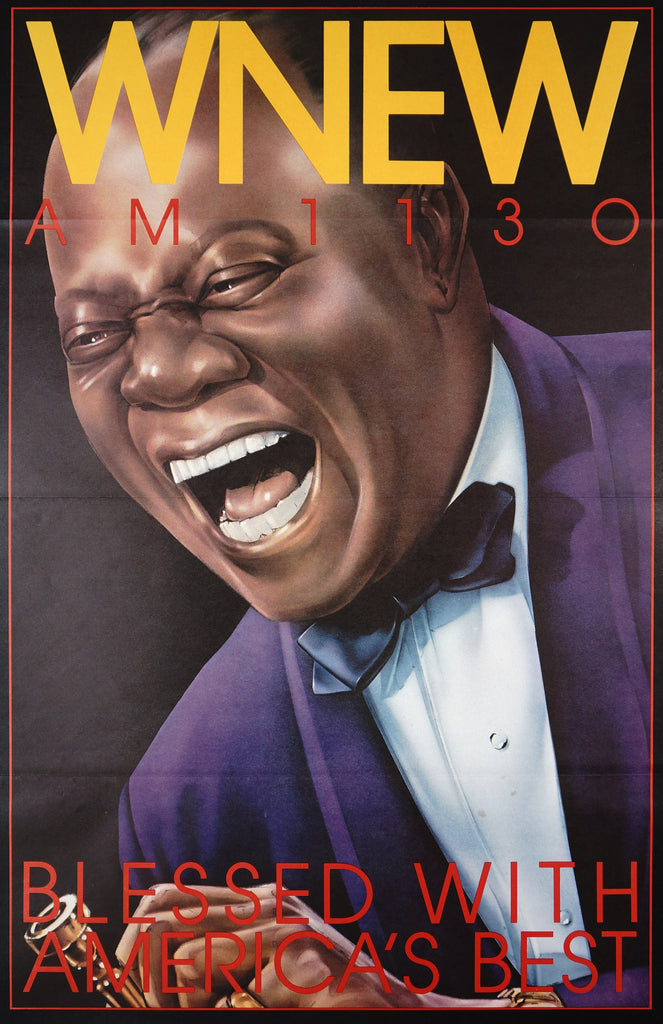 WNEW- Louis Armstrong (1985) - Original and Authentic Vintage Poster