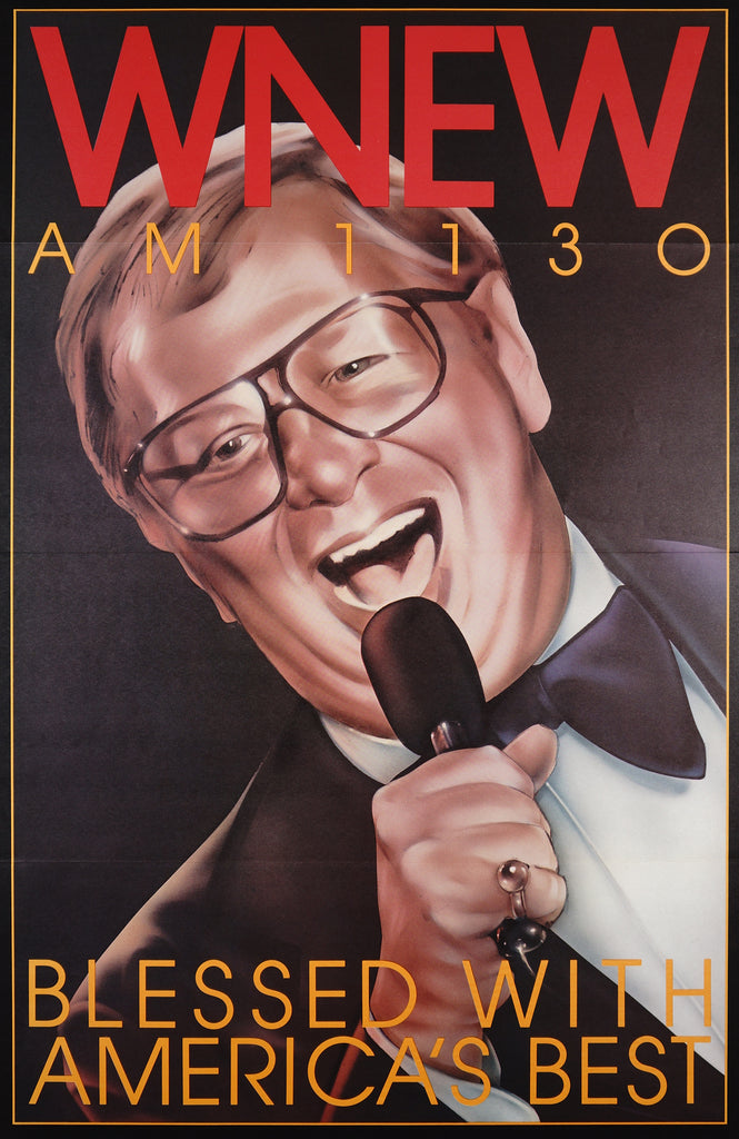 WNEW- Mel Torme (1985) - Original and Authentic Vintage Poster