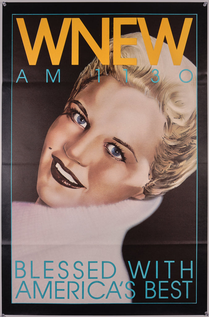 WNEW- Peggy Lee (1985) - Original and Authentic Vintage Poster