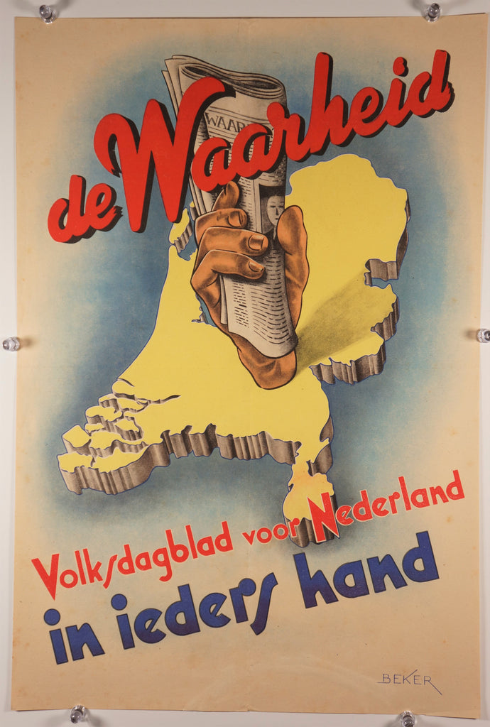De Waarheid (1940s) - Original and Authentic Vintage Poster