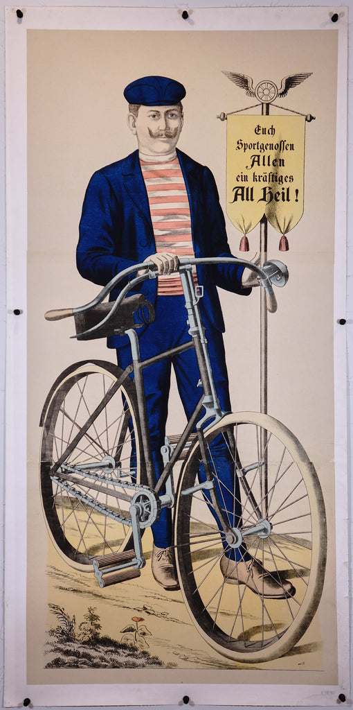 Wissembourg Carnival Bicycle #56 (1880s) - Original and Authentic Vintage Poster