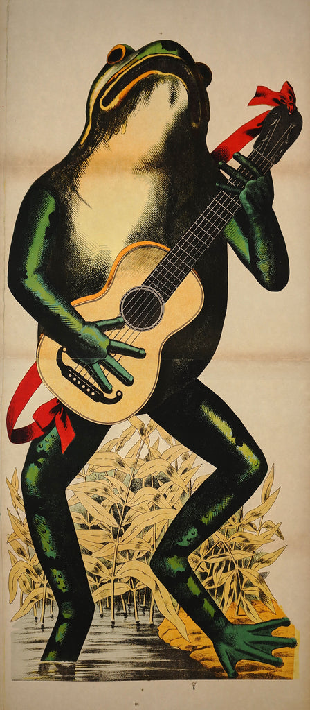 Wissembourg Frog with Guitar (1880s) - Original and Authentic Vintage Poster
