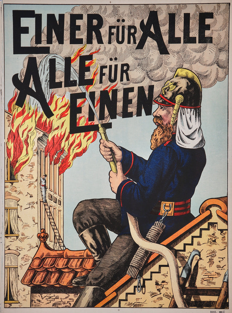 Wissembourg- Einer für Alle (1890s) - Original and Authentic Vintage Poster