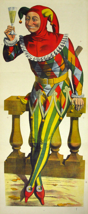 Wissembourg- Jester (1880s) - Original and Authentic Vintage Poster