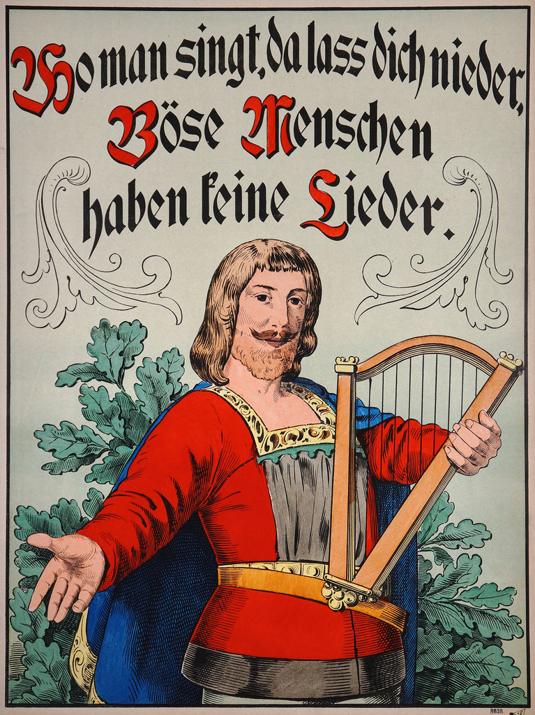 Wissembourg- Homme à la Lyre (1890s) - Original and Authentic Vintage Poster
