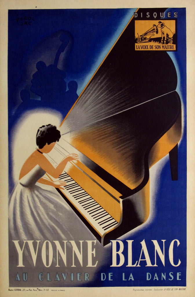 Yvonne Blanc (1925) - Original and Authentic Vintage Poster