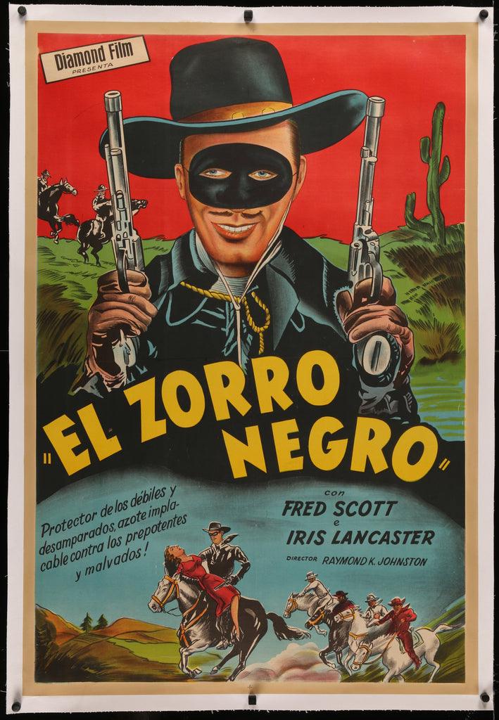 El Zorro Negro (1940) - Original and Authentic Vintage Poster