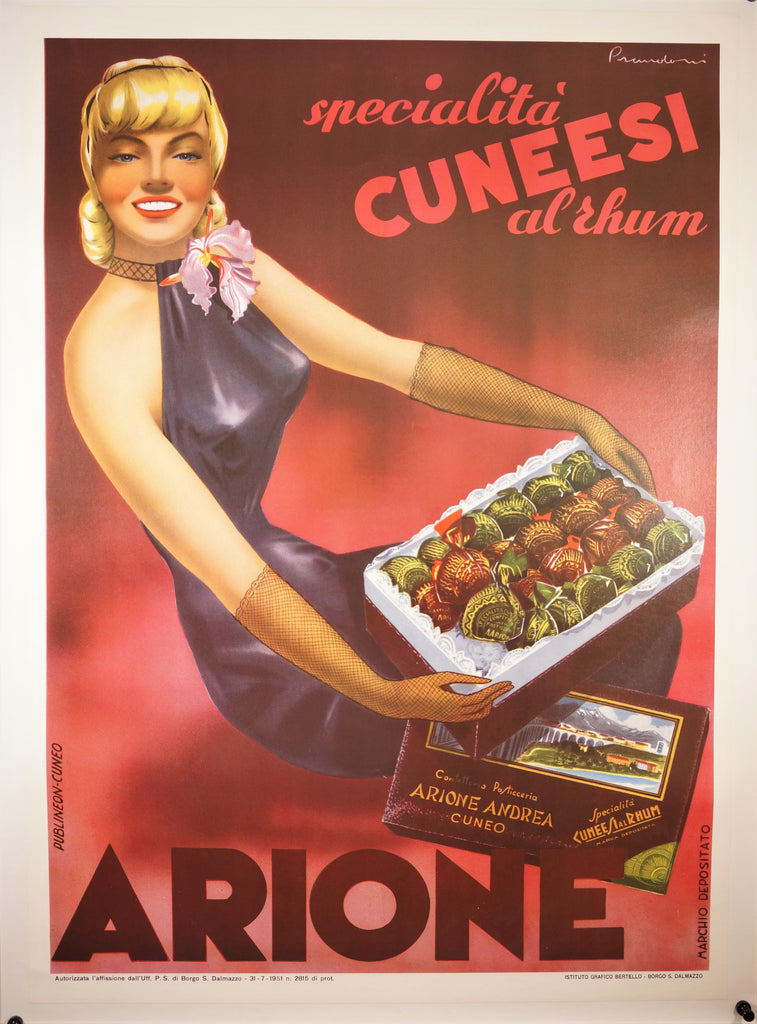 Cuneesi Rhum (1951) - Original and Authentic Vintage Poster