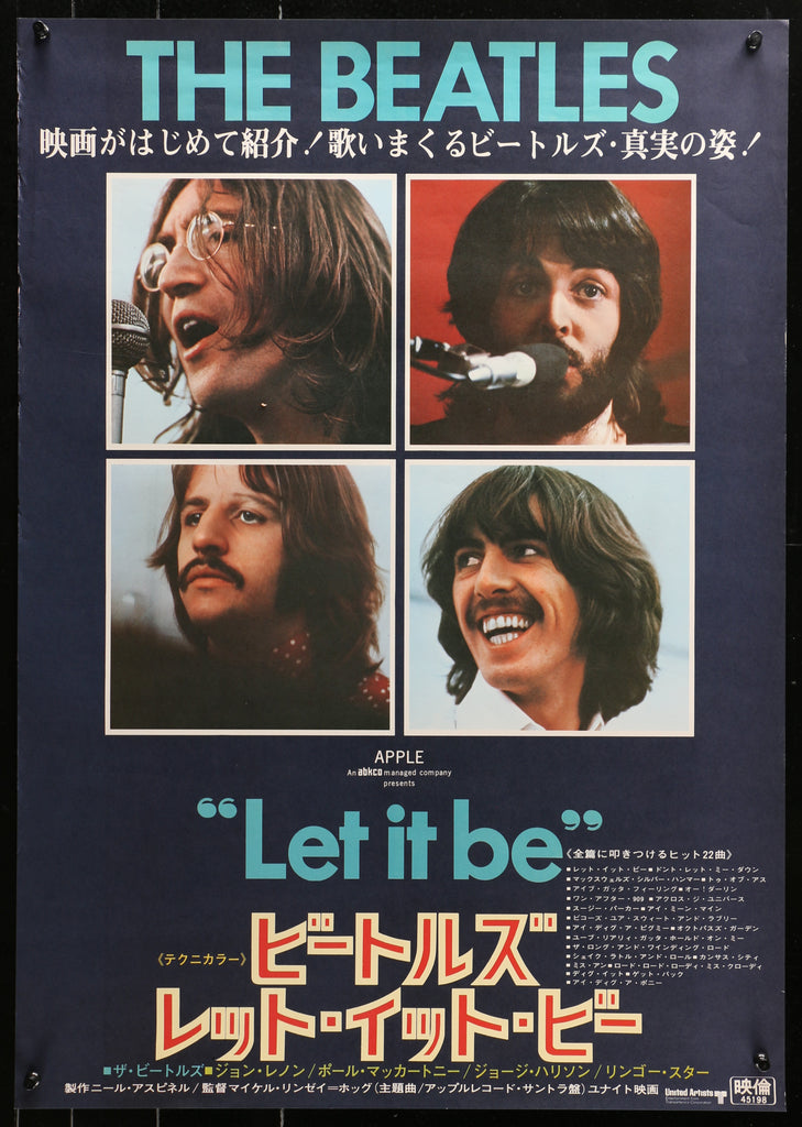 The Beatles- Let it Be (1970) - Original and Authentic Vintage Poster