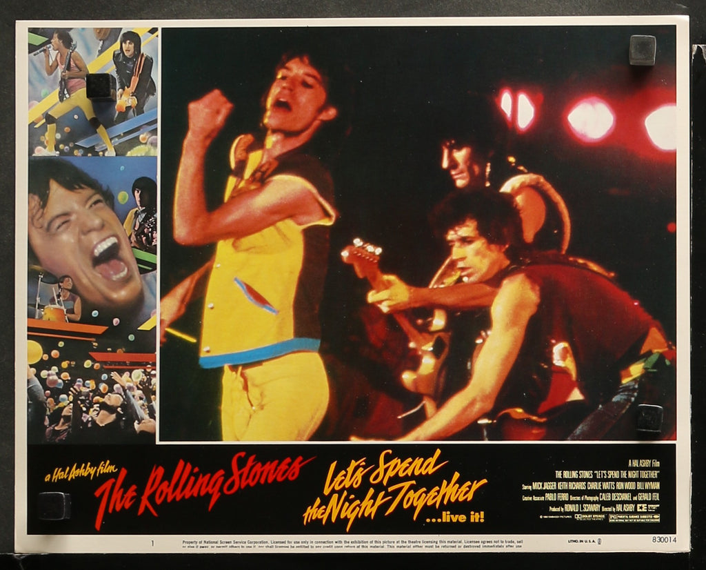 5 Rolling Stones Lobby Cards (1983)