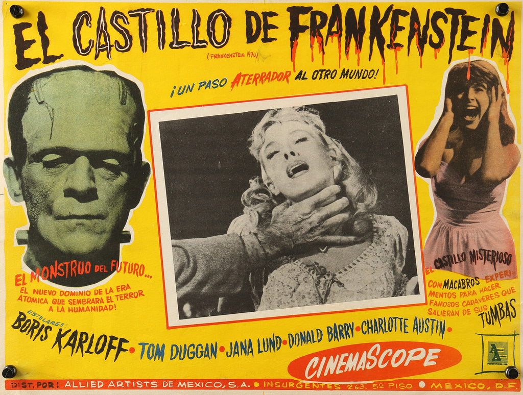 Frankenstein (1958) - Original and Authentic Vintage Poster