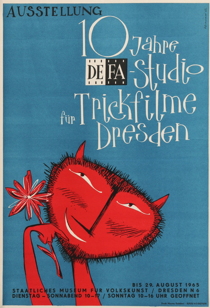 DEFA Studio (1965) - Original and Authentic Vintage Poster