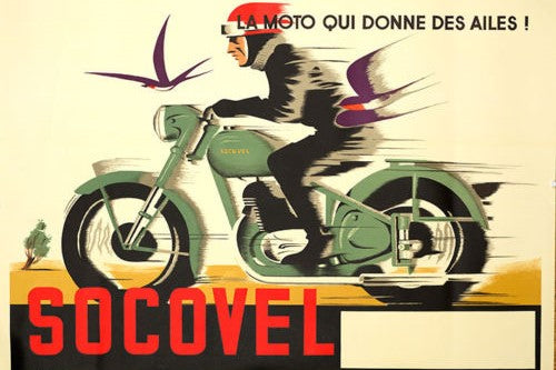 Socovel Motorcycle ad (1940s)