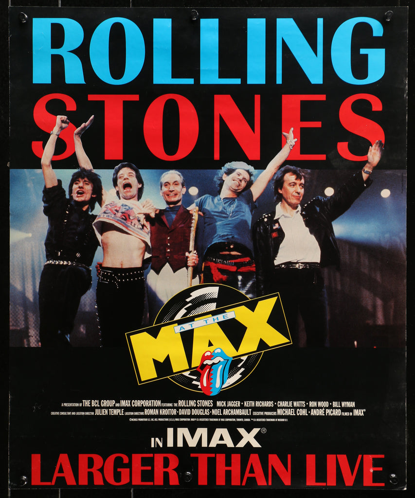 Rolling Stones- IMAX Larger than Live (1991) - Original and Authentic Vintage Poster