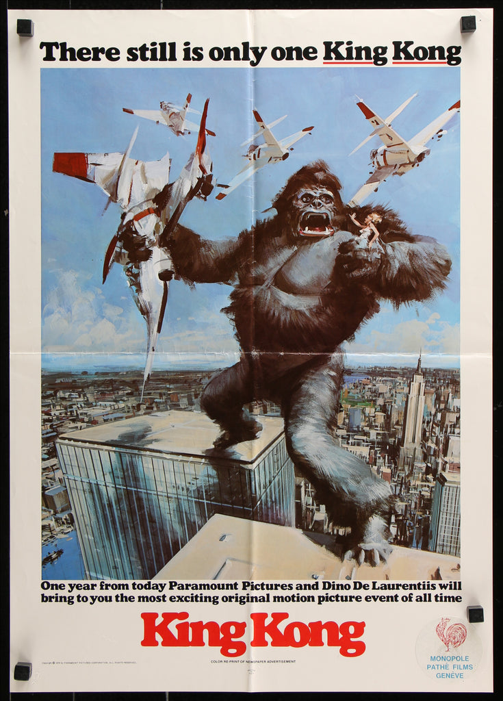 King Kong (1970s) - Original and Authentic Vintage Poster
