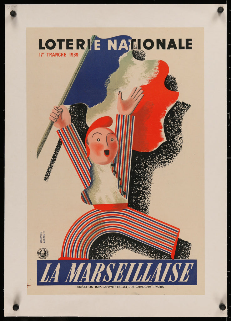 Loterie Nationale La Marseillaise (1939) - Original and Authentic Vintage Poster