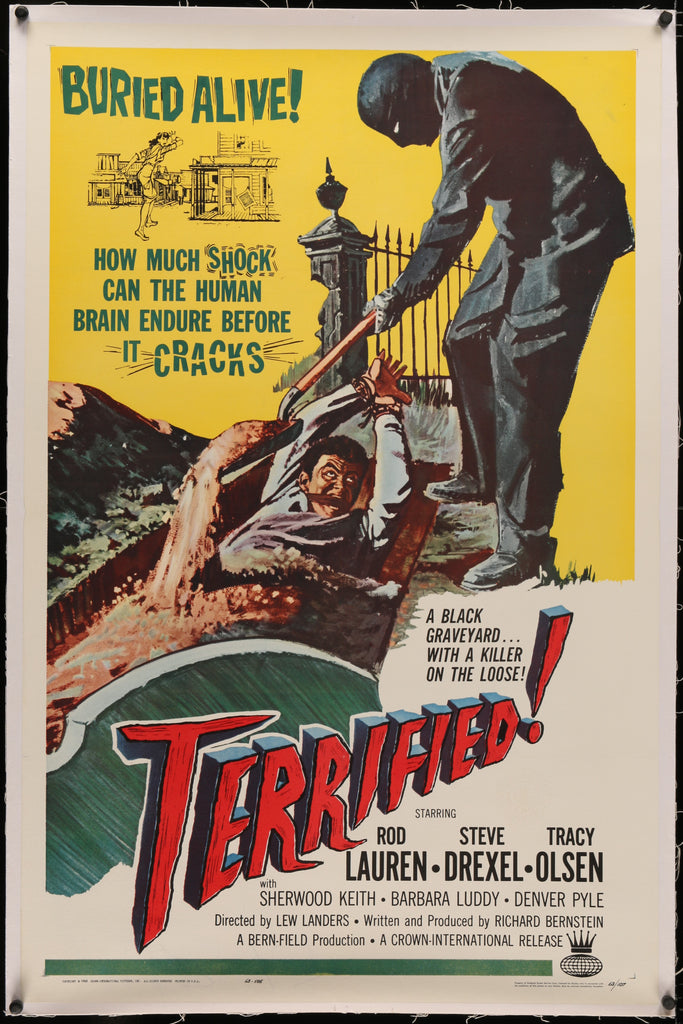 Terrified! (1963) - Original and Authentic Vintage Poster