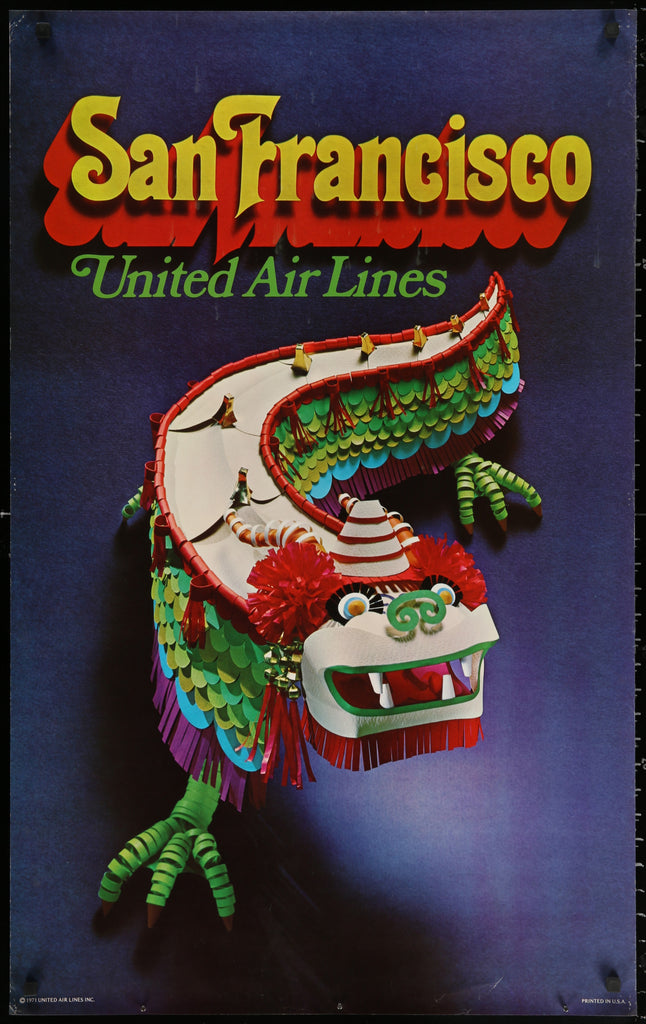 United Airlines- San Francisco (1971) - Original and Authentic Vintage Poster