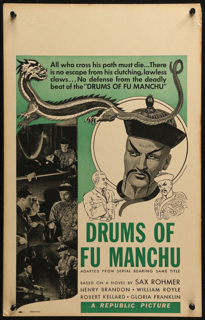 Drums of Fu Manchu (1943) - Original and Authentic Vintage Poster