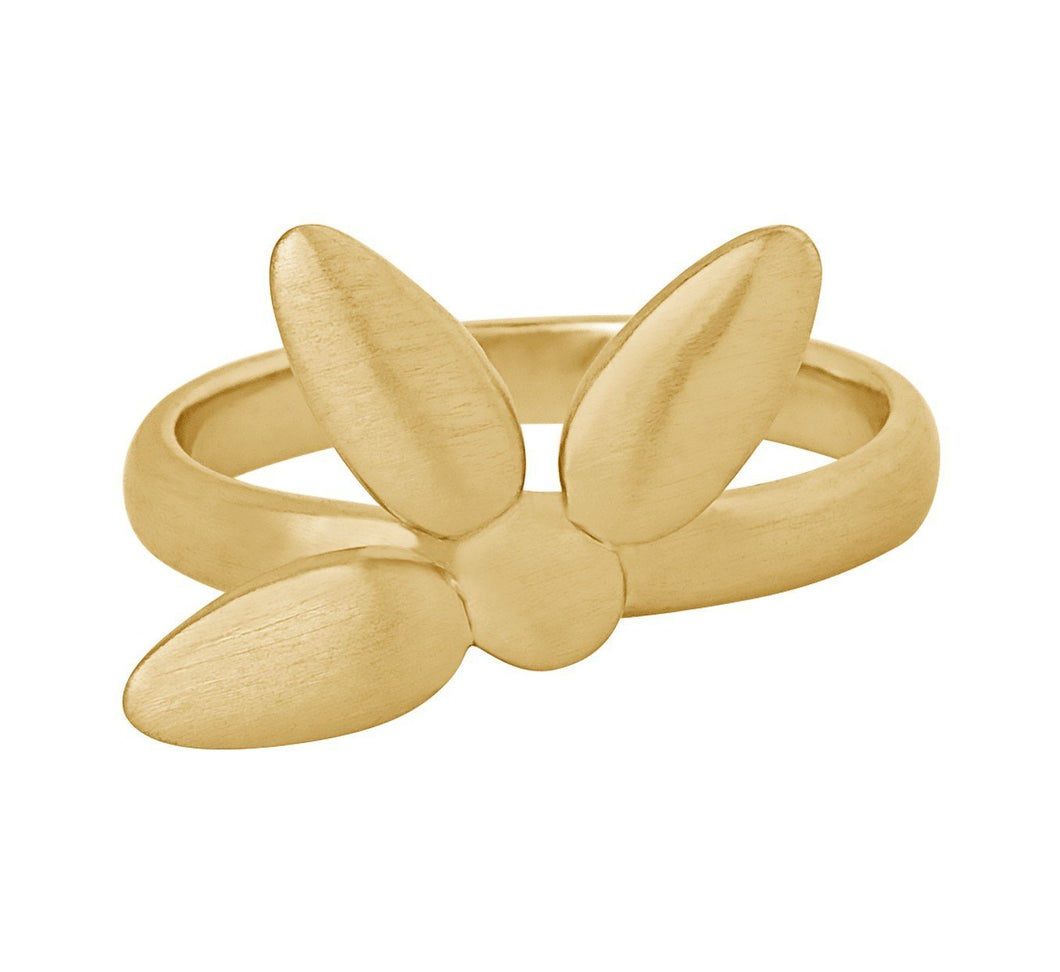 Mega forget-me-not ring large - Guld