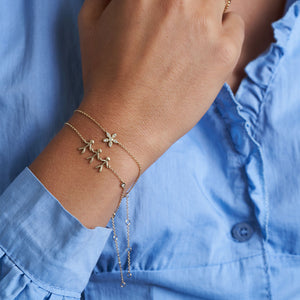 Forget-Me-Not diamant armbånd - solid guld