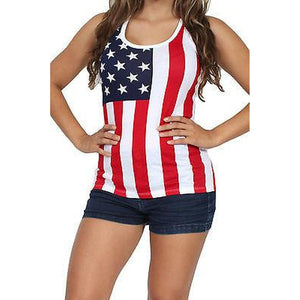 USA Flag Tank Top Ladies - Designer Womens Leggings. Athletic Yoga Pants - TopRank Shop