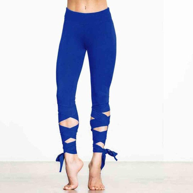 Leggings - Tie-Down Women's Designer Yoga Pants - Designer Womens Leggings. Athletic Yoga Pants - TopRank Shop